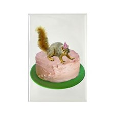 Squirrel on Cake Rectangle Magnet