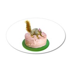 Squirrel on Cake Wall Decal