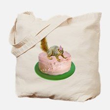 Squirrel on Cake Tote Bag