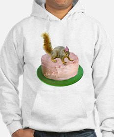 Squirrel on Cake Hoodie