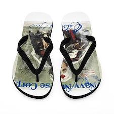 Vintage Navy Nurse Corps 1908 Flip Flops