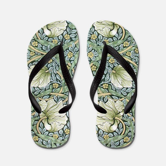 William Morris Pimpernel Design Flip Flops
