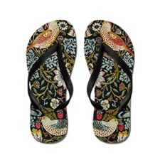 William Morris Strawberry Thief Flip Flops