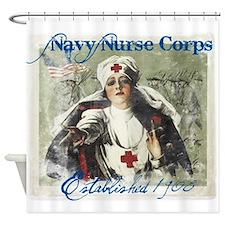 Vintage Navy Nurse Corps 1908 Shower Curtain