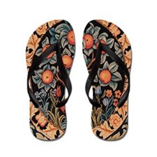 Morris Orange Tree of Life Flip Flops