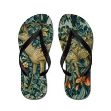 Greenery by William Morris Flip Flops