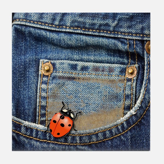 Buggy Jeans Tile Coaster