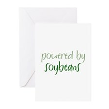 Powered By soybeans Greeting Cards (Pk of 10)