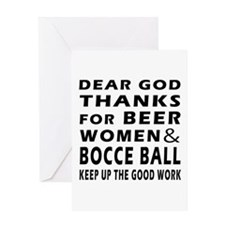 Beer Women And Bocce Ball Greeting Card