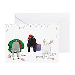 Schnauzer Christmas Greeting Cards (Pk of 10)