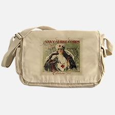 Navy Nurse Corps Vintage Red Messenger Bag