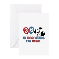 Funny 36 year old gift ideas Greeting Card