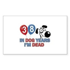 Funny 38 year old gift ideas Bumper Stickers