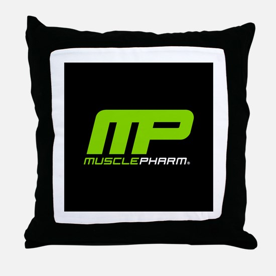 Muscle Pharm Bodybuilding Supplement Throw Pillow