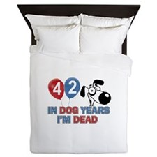 Funny 42 year old gift ideas Queen Duvet