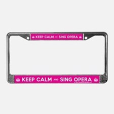 Keep Calm and Sing Opera License Plate Frame