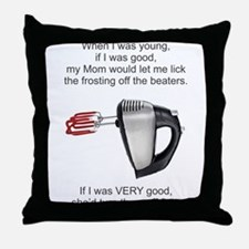 Lick Beaters Throw Pillow