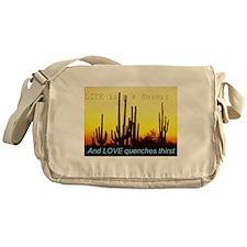 Life is a desert Messenger Bag