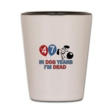 Funny 47 year old gift ideas Shot Glass