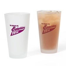 Established in 1914 birthday designs Drinking Glas