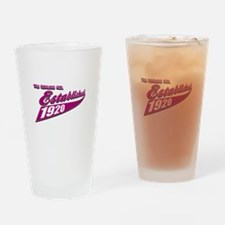 Established in 1920 birthday designs Drinking Glas