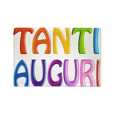 Tanti Auguri (Happy Birthday in Italian ) Rectangl