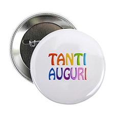 "Tanti Auguri (Happy Birthday in Italian ) 2.25"" Bu"