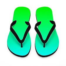 Lime Aqua Ombre Flip Flops
