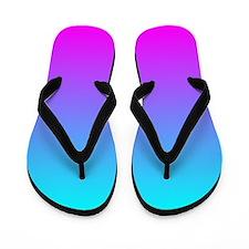 Magenta Aqua Ombre Flip Flops