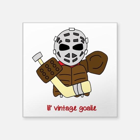 Lil Vintage Hockey Goalie Sticker