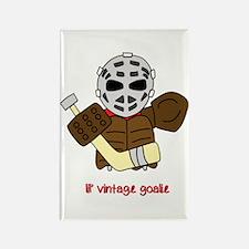 Lil Vintage Hockey Goalie Rectangle Magnet