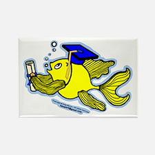 Gratuate fish Rectangle Magnet