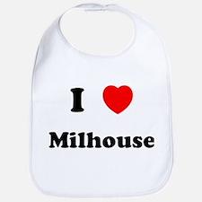 I Love Milhouse Bib