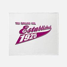 Established in 1925 birthday designs Throw Blanket