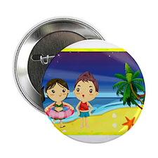 "Romantic Cartoon 7 2.25"" Button (100 pack)"