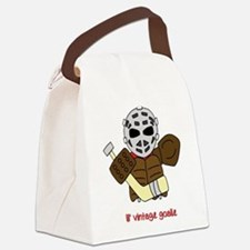 Lil Vintage Hockey Goalie Canvas Lunch Bag