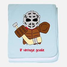 Lil Vintage Hockey Goalie baby blanket