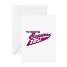 Established in 1933 birthday designs Greeting Card