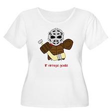 Lil Vintage Hockey Goalie Plus Size T-Shirt