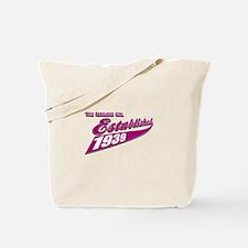 Established in 1939 birthday designs Tote Bag