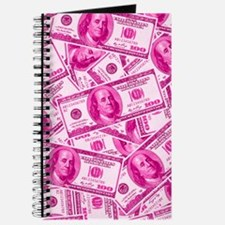 Pink Hundred Dollar Bill Pattern Journal