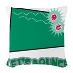 Lets Bounce Dice.png Woven Throw Pillow
