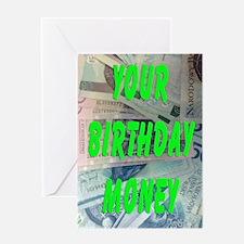 Polish Loti Birthday Money Greeting Card