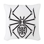tribal spider design.png Woven Throw Pillow