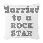 ROCK STAR.png Woven Throw Pillow