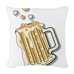 beer.png Woven Throw Pillow