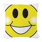 smiley-face.png Woven Throw Pillow