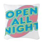 text_open.png Woven Throw Pillow