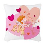 cute little cupid.jpg Woven Throw Pillow