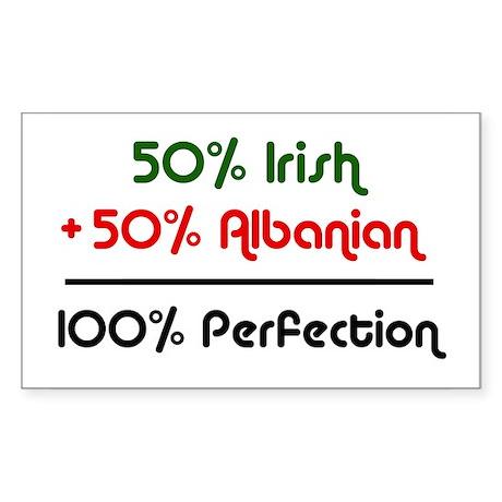 Irish & Albanian Perfection Rectangle Sticker